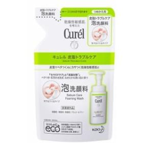 キュレル  皮脂トラブルケア 泡洗顔料 つめかえ用 130mL  敏感肌 乾燥洗顔 汚れ
