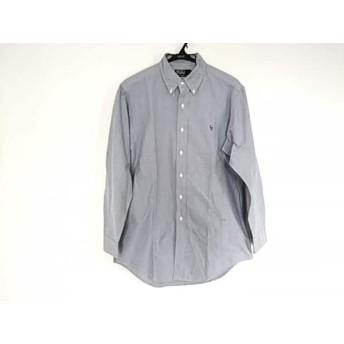 【中古】 ポロラルフローレン POLObyRalphLauren 長袖シャツ サイズ40 M メンズ ブルー