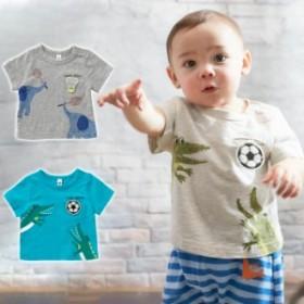 【ベビー】【BIT'Z】アニマルプリントTシャツ【赤ちゃん ベビー服 男の子】