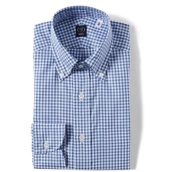 BEAMS F / ドビー ギンガムチェック ボタンダウンシャツ メンズ ドレスシャツ SAX/11 43