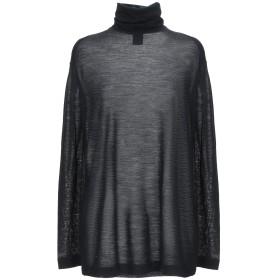 《期間限定セール開催中!》ASPESI レディース T シャツ ブラック S ウール 65% / ナイロン 20% / 毛(アンゴラ) 15%
