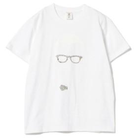 Mr. POPPY × BEAMS LIGHTS / 別注 リバティアレンジ プリントTシャツ メンズ Tシャツ WHT×WHT M