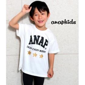 【セール開催中】ANAP KIDS(キッズ)箔星ANAPロゴBIGTシャツ