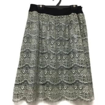 【中古】 ロイスクレヨン Lois CRAYON スカート サイズM レディース 美品 白 黒 ライトグレー