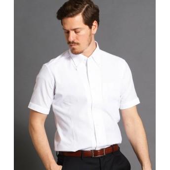 ムッシュニコル ボタンダウン半袖ドレスシャツ メンズ 09ホワイト 44(S) 【MONSIEUR NICOLE】