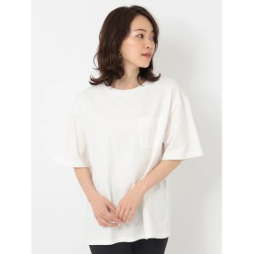 グリーンパークス Green Parks ・ポケット付ビッグTシャツ (Off White)