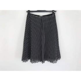 【中古】 ロイスクレヨン Lois CRAYON スカート サイズM レディース 黒 白 ドット柄