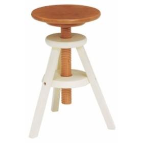萩原 回転スツール VH-7960NW 椅子 回転 高さ調節 おしゃれ(代引不可)【送料無料】