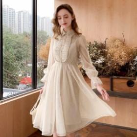 レディース ワンピース  フレアスカート  ゆったり 大きいサイズ  パーティドレス  同窓会  レース