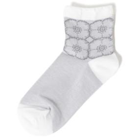 ミナ ペルホネン / anemone ソックス● レディース ソックス・靴下 WHITE ONE SIZE