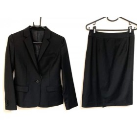 【中古】 プラステ PLS+T(PLST) スカートスーツ サイズS レディース 美品 黒