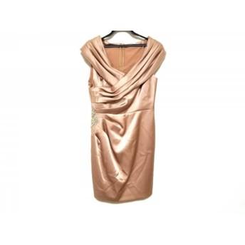 【中古】 グレースコンチネンタル GRACE CONTINENTAL ドレス サイズ38 M レディース 美品 ピンクベージュ