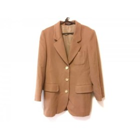 【中古】 レオナール LEONARD コート サイズ11 M レディース ライトブラウン 肩パッド/冬物