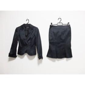【中古】 マテリア MATERIA スカートスーツ レディース 新品同様 黒