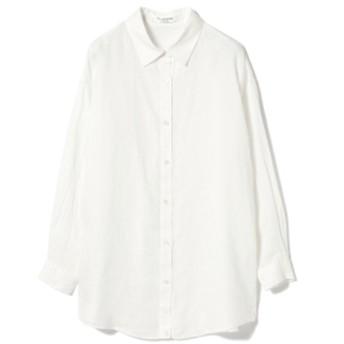 Ray BEAMS / リネン 2Way カシュクール シャツ レディース カジュアルシャツ WHITE ONE SIZE