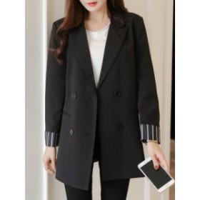 【前売り】通勤 折り襟 フォーマル 上品らしい 合わせやすい 配色 スーツ