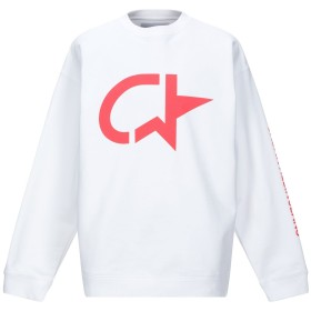 《期間限定 セール開催中》CALVIN KLEIN JEANS メンズ スウェットシャツ ホワイト L コットン 80% / ポリエステル 20%
