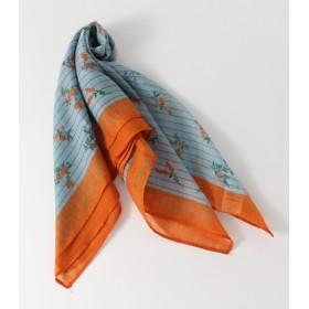 マフラー - AZUL BY MOUSSY 【AZUL BY MOUSSY】ストライプ小花柄スカーフ