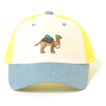 BEAMS mini / モロッコアニマルキャップ キッズ キャップ YELLOW×LT. BLUE ONE SIZE