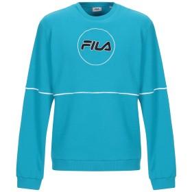 《9/20まで! 限定セール開催中》FILA メンズ スウェットシャツ ターコイズブルー M コットン 65% / ポリエステル 35%