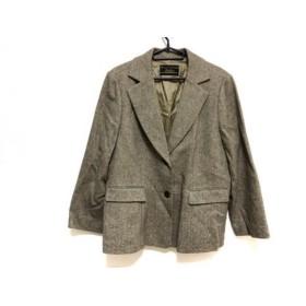 【中古】 レリアン Leilian ジャケット サイズ17+ XL レディース グレー