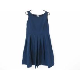 【中古】 ランバンオンブルー LANVIN en Bleu ワンピース サイズ38 M レディース 美品 ネイビー