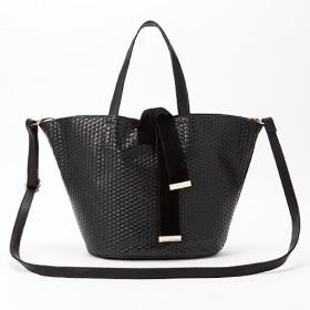 40%OFFメッシュデザイン2WAYバッグ ■カラー:ブラック