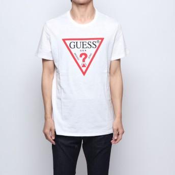 ゲス GUESS ORIGINAL TRIANGLE LOGO TEE (TRUE WHITE)