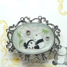 京オパール★可愛いパンダのヘアゴム★ホワイトパール