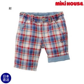 ミキハウス正規販売店/ミキハウス mikihouse イカリマーク刺しゅうの7分丈パンツ(80cm・90cm)