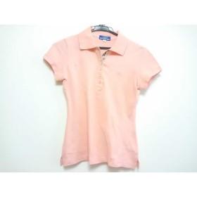 【中古】 バーバリーブルーレーベル Burberry Blue Label 半袖ポロシャツ サイズ38 M レディース ピンク