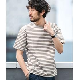 [マルイ]【セール】【WEB限定】シルケットボーダービッグTシャツ 半袖/ナノ・ユニバース(メンズ)(nano universe)