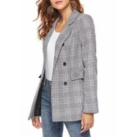【前売り】気質抜群 チェック柄 長袖 ファッション 通勤 女性 スーツ