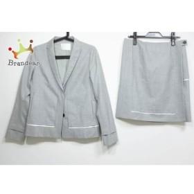 アンテプリマ ANTEPRIMA スカートスーツ サイズ40 M レディース 美品 ライトグレー×白 新着 20190421