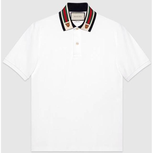 ウェブ&タイガーヘッド コットン ポロシャツ