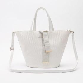 40%OFFメッシュデザイン2WAYバッグ ■カラー:ホワイト