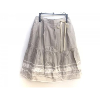 【中古】 ロイスクレヨン Lois CRAYON スカート サイズM レディース ライトベージュ アイボリー