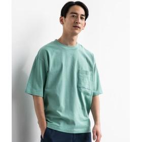 グリーンレーベルリラクシング ★SC テーパードヘム クルー 半袖 Tシャツ メンズ LIME XS 【green label relaxing】