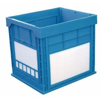 KUNIMORI プラスチック折畳みコンテナ パタコン N-134 ブルー 50680N134B(代引き不可)【送料無料】