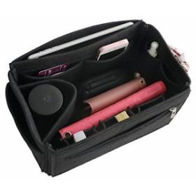 VANCORE フェルト インナーバッグ バッグインバッグ 13ポケット レディース 軽量鞄 オーガナイザー おしゃれ収納バッグ L ブラック