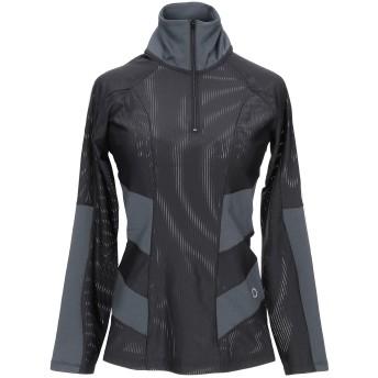 《セール開催中》DROP OF MINDFULNESS レディース T シャツ ブラック M ポリエステル 95% / ポリウレタン 5%