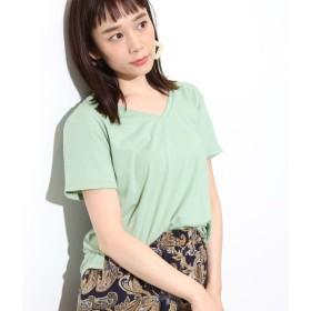 ビス/【AMERICAN COTTON】VネックTシャツ/ライトグリーン/M