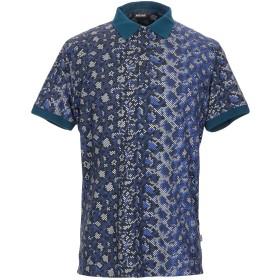 《期間限定セール開催中!》JUST CAVALLI メンズ ポロシャツ ブルー S コットン 100%