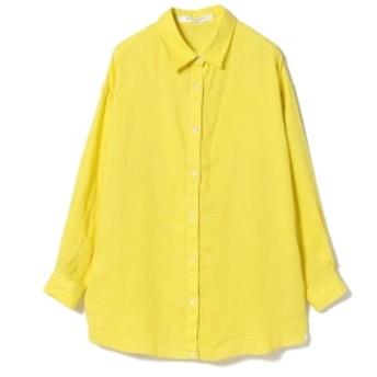 Ray BEAMS / リネン 2Way カシュクール シャツ レディース カジュアルシャツ YELLOW ONE SIZE