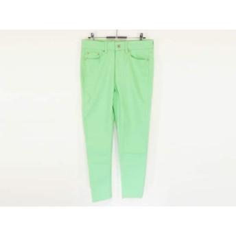 【中古】 ラルフローレン RalphLauren パンツ サイズ6 M レディース 美品 ライトグリーン ストレッチ