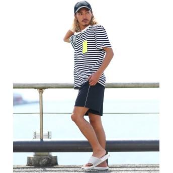 ハーフパンツ - improves ショートパンツ メンズ 膝上 ボードショーツ ナイロン パンツ ハーフパンツ ショーツ 短パン ブラック ホワイト イエロー 黒 白黄色 サーフ系 スポーツミックス 韓国ファッション ストリート系 ストリートファッション メンズファッション イ