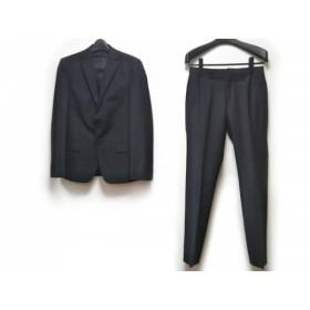 【中古】 コムサイズム COMME CA ISM シングルスーツ サイズXS メンズ 黒 ストライプ