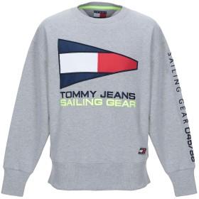 《期間限定 セール開催中》TOMMY JEANS メンズ スウェットシャツ グレー S コットン 60% / ポリエステル 40%