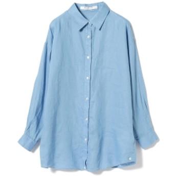 Ray BEAMS / リネン 2Way カシュクール シャツ レディース カジュアルシャツ BLUE ONE SIZE