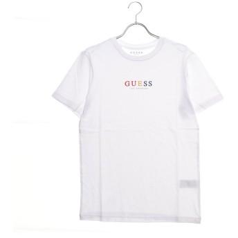 ゲス GUESS UNISEX COLORFUL LOGO TEE (WHITE)